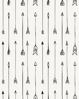 Seamless pattern of arrow