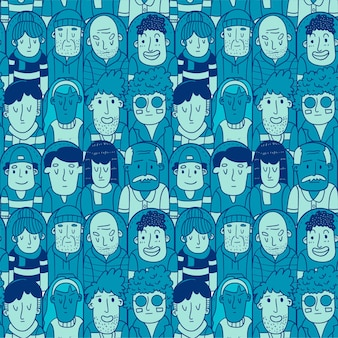 Seamless pattern of audience soccer