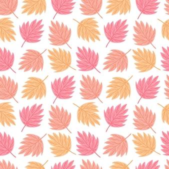 Осенние листья бесшовные модели. геометрический шаблон кленовый лист.