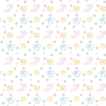 Seamless pattern baby clothes pastel color vector illustration infant cute repeated print