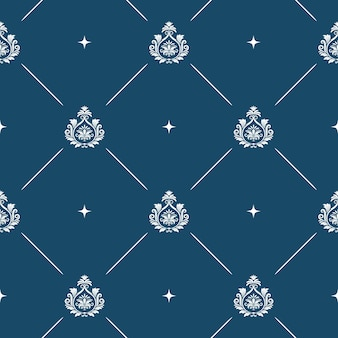 Seamless pattern background baroque. vintage wallpaper