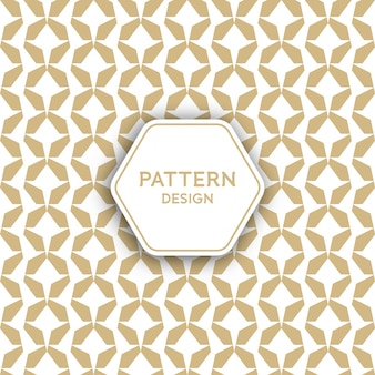Seamless pattern background - golden geometric design elements