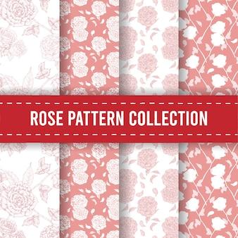 완벽 한 패턴 배경 손으로 그린 꽃 장미 장식 디자인 모티브