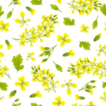 Seamless pattern background of mustard.