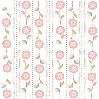 Seamless pattern background with flowers