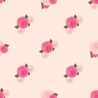 꽃으로 완벽 한 패턴 배경입니다.
