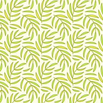 Seamless pattern, background with hand drawn cute insects, flowers, leaves