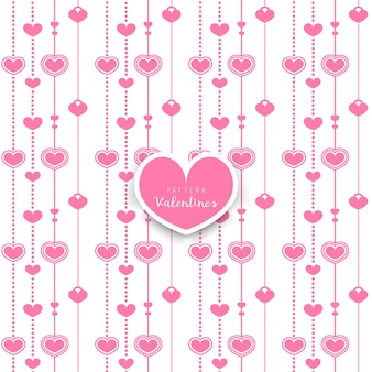 Seamless pattern background with hearts