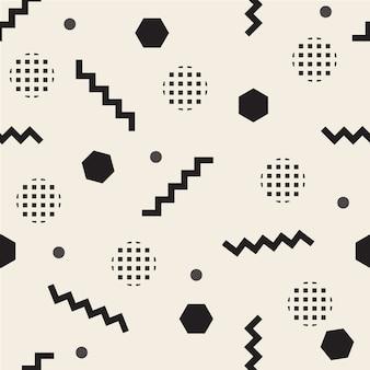 Seamless pattern background with monochrome confetti