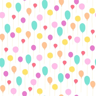 Seamless pattern balloons for children birthday party.