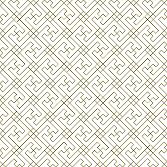 A seamless pattern based on elements of the traditional japanese craft. average thickness lines of brown color.