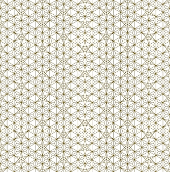 A seamless pattern based on elements of the traditional japanese craft kumiko zaiku. average thickness lines of brown color.