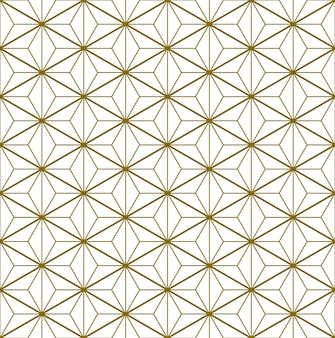 Seamless pattern based on elements of the traditional japanese craft kumiko zaiku brown color lines