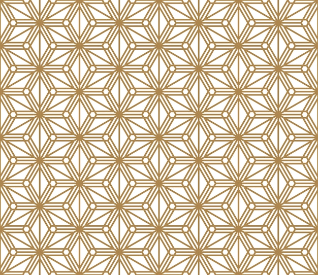 Seamless pattern based on japanese ornament kumiko