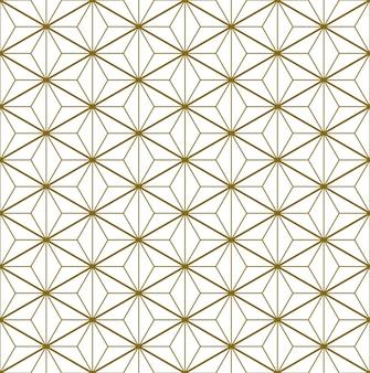 日本の伝統工芸品の要素を基にしたシームレスなパターン久美子ザイクブラウンカラーライン