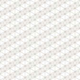 Бесшовный узор на основе японского орнамента kumiko