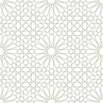 伝統的なイスラム美術に基づいたシームレスなパターン。