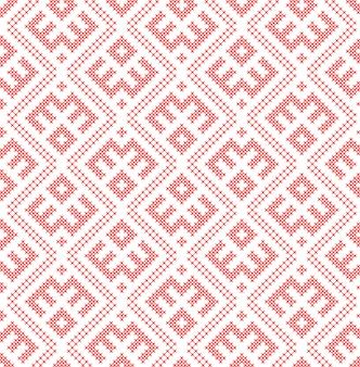 Seamless pattern based on traditional russian and slavic ornament