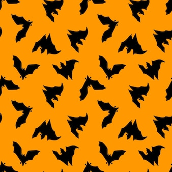 Seamless pattern of batsdesign for halloween