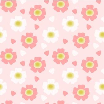 Seamless pattern beautiful cherry blossoms