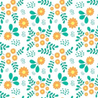Seamless pattern of beautiful flower background