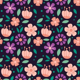 Seamless pattern of beautiful flower vector background