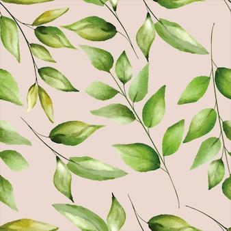 Бесшовные модели красивая зелень листья дизайн