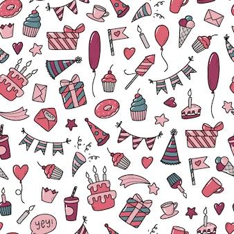 Seamless pattern for birthday