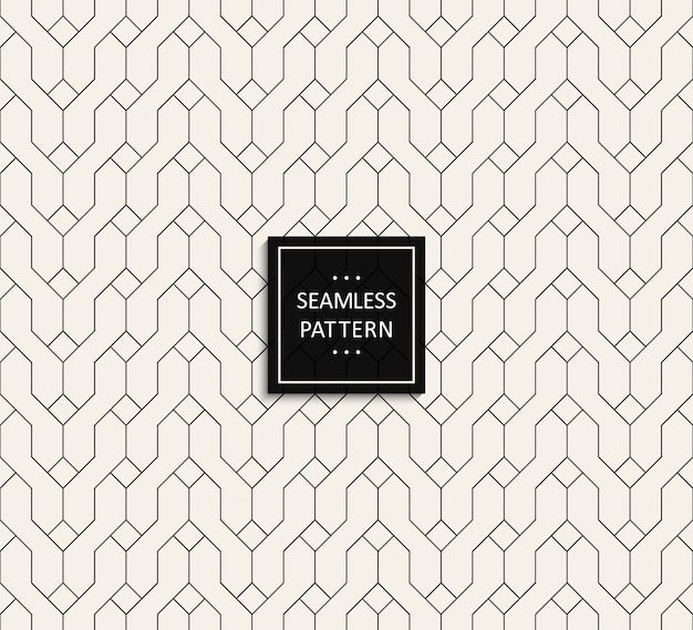 Seamless pattern of black color on grey .