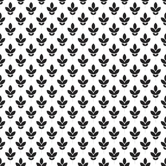 Seamless pattern. black and white flower