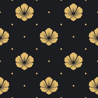 Seamless pattern black