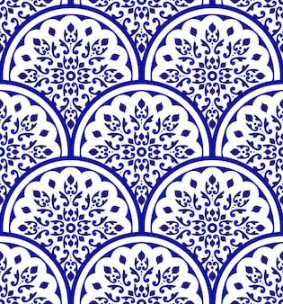 シームレスパターン青と白