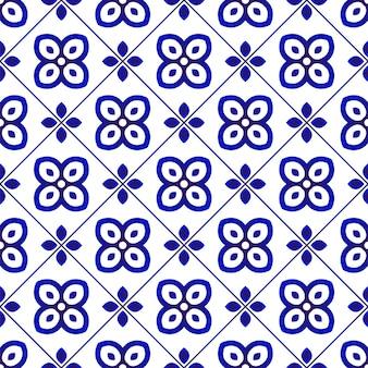 원활한 패턴 파란색과 흰색