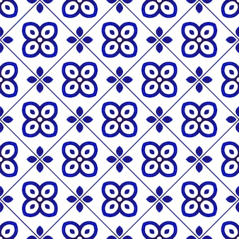 Seamless pattern blue and white