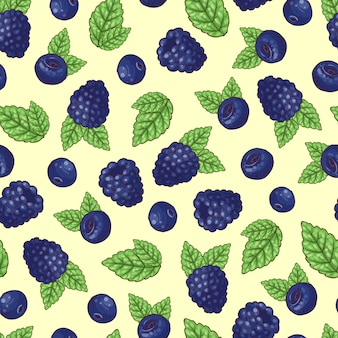 Seamless pattern blueberry
