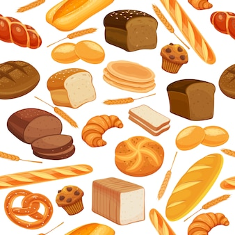 Seamless pattern bread