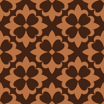 Seamless pattern brown french ornamental ceramic tile