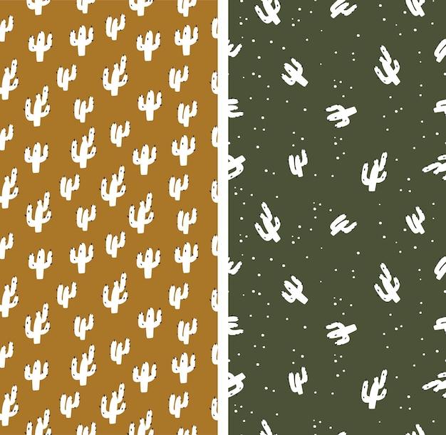 밝은 배경에 원활한 pattern.cactus입니다. 벡터 일러스트 레이 션