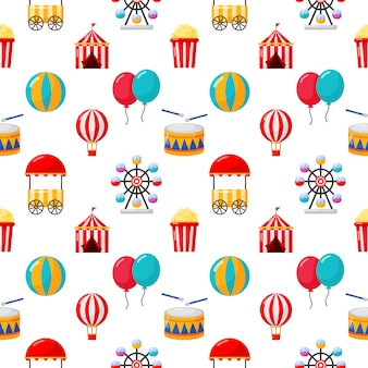 Seamless pattern carnival isolate on white