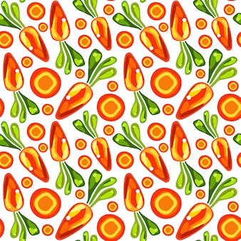 Seamless pattern of carrots