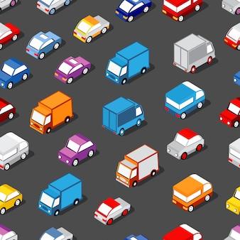 Seamless pattern of cars