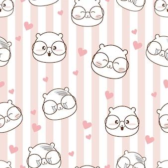 Seamless pattern cartoon in love