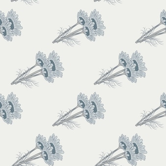 Ромашка бесшовные модели на светлом фоне. красивое украшение летних серых цветов.