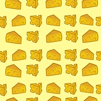 Seamless pattern cheese