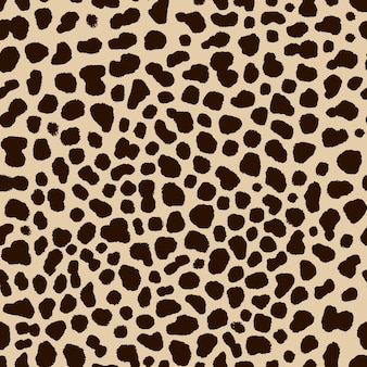 Seamless pattern of cheetah skin in hand drawing style illustration