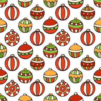 Seamless pattern of christmas baubles