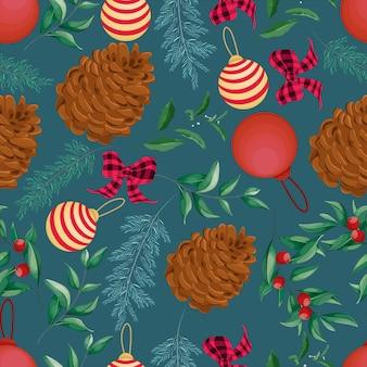 Seamless pattern christmas ornament design