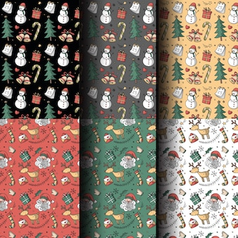 Seamless pattern christmas theme