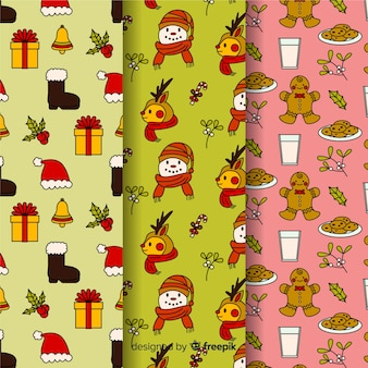 Seamless pattern for christmas wrapping