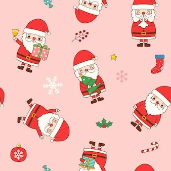 Seamless pattern of christmas